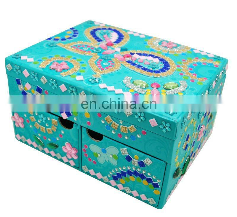 3D Mosaic jewelry box /mosaic box/gemstone art box