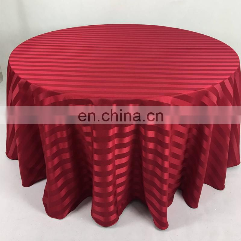christmas modern red stripe simple design 6ft damask table cloth