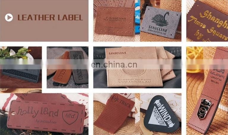 In 2016, the latest clothing embroidery leather patch embroidered leather label