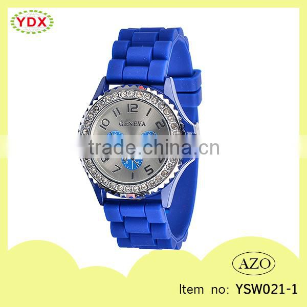 Eco friendly water resistant man silicone watch stone