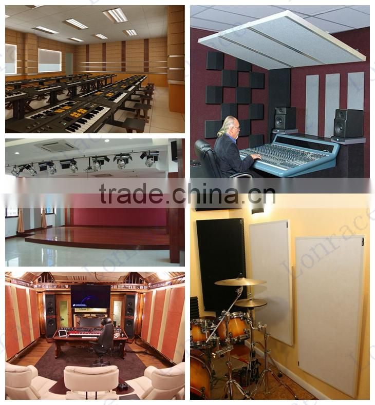 glass wool acoustic panel for interior decoration