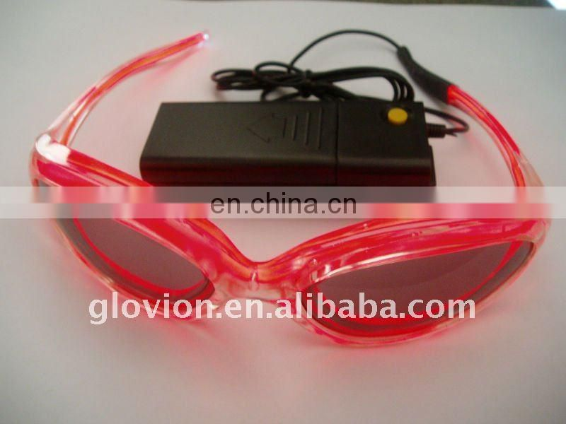 American and European christmas gifts el flashing light glasses