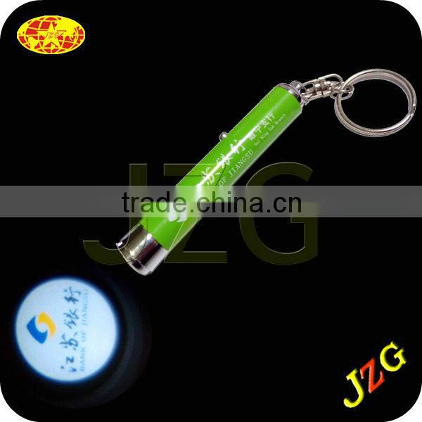 Supplier directly sale led projector keychain foreign kids favor toy led logo projector keychain light