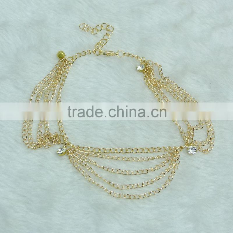 New foot chain anklets multilayer barefoot sandals