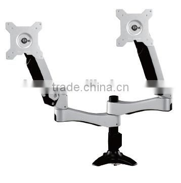 MONITOR SPRING ARM Two extension Desk double LCD monitor spring arm
