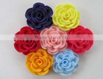 2017 hight quality new products hot sale interior home party ornament handmade felt artificial rose flower made in China