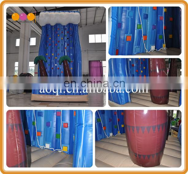 AOQI best quality kid inflatable rock climbing wall for sale