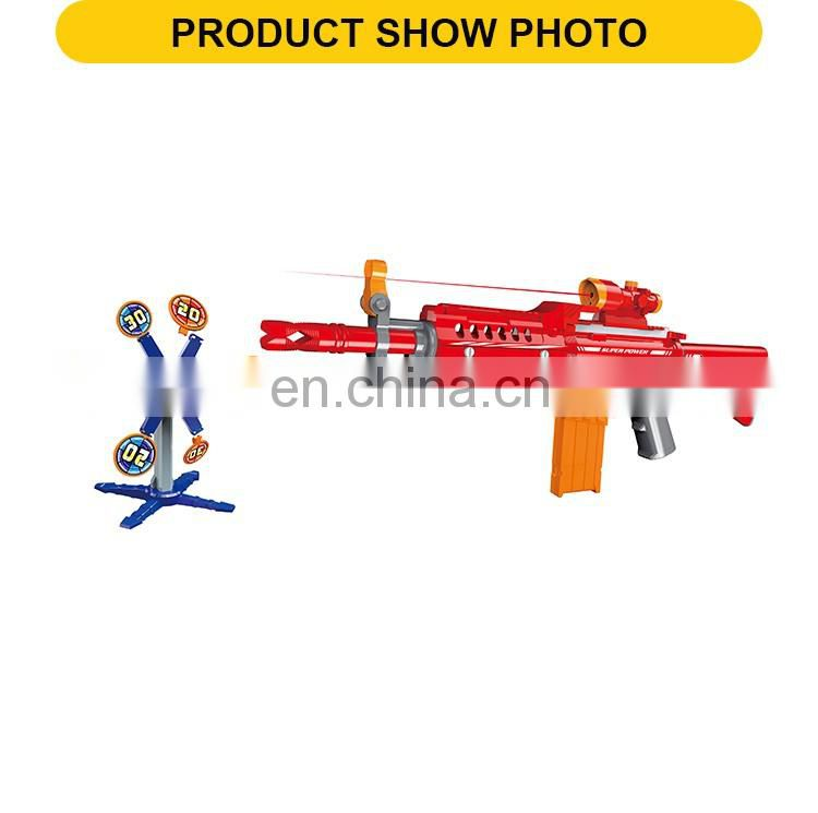 New design battery operated plastic soft bullet toy guns with telescopes & infra-red