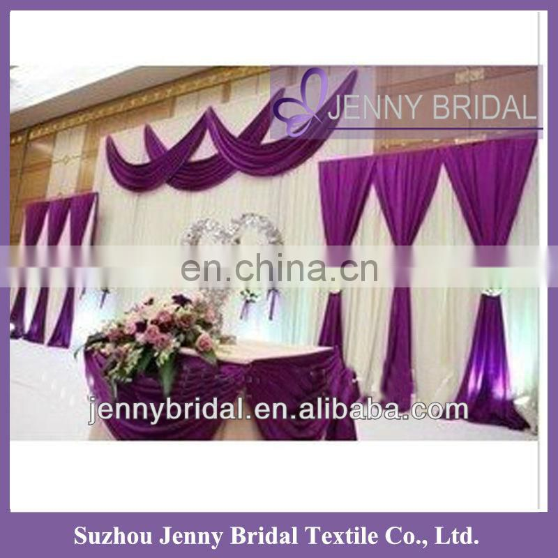 BCK045 Fancy and popular chiffon and organza luxurious backdrop for weddings
