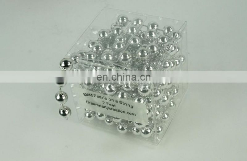 8MM Faux Pearl Plastic Craft BEADS Garland