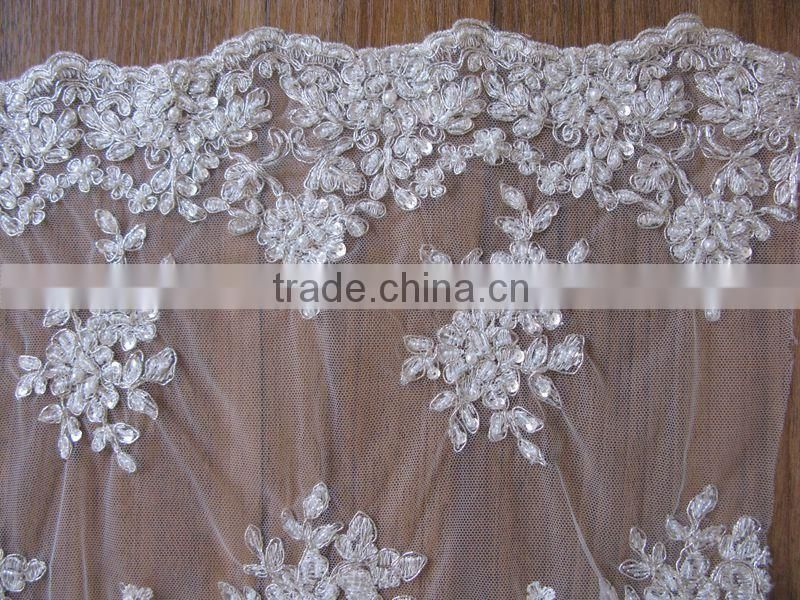 12 years big factory ,specialize in all kinds of embroidery ,warp-knitting,lace ,garment fabrics,welcome to visit our factory