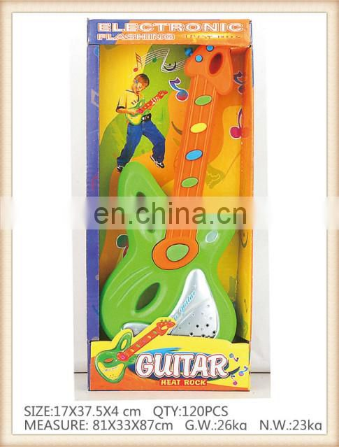 kids cartoon plastic electronic guitar toy