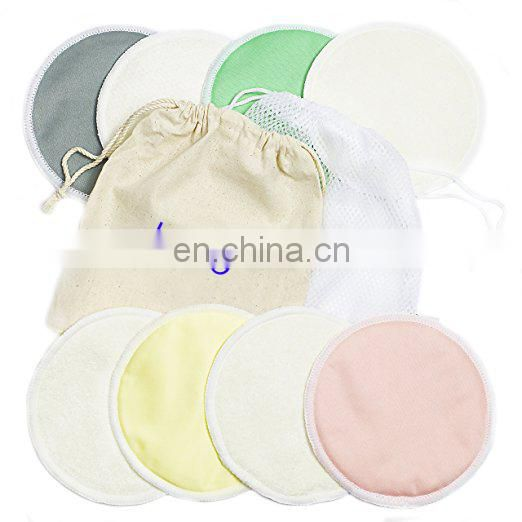 Pack of 10 Organic Bamboo Nursing Pads with Laundry Bag Breathable Nursing Pads Breast Pads