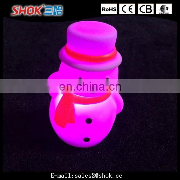 Christmas decorations outdoor led lighted plastic snowman from china market