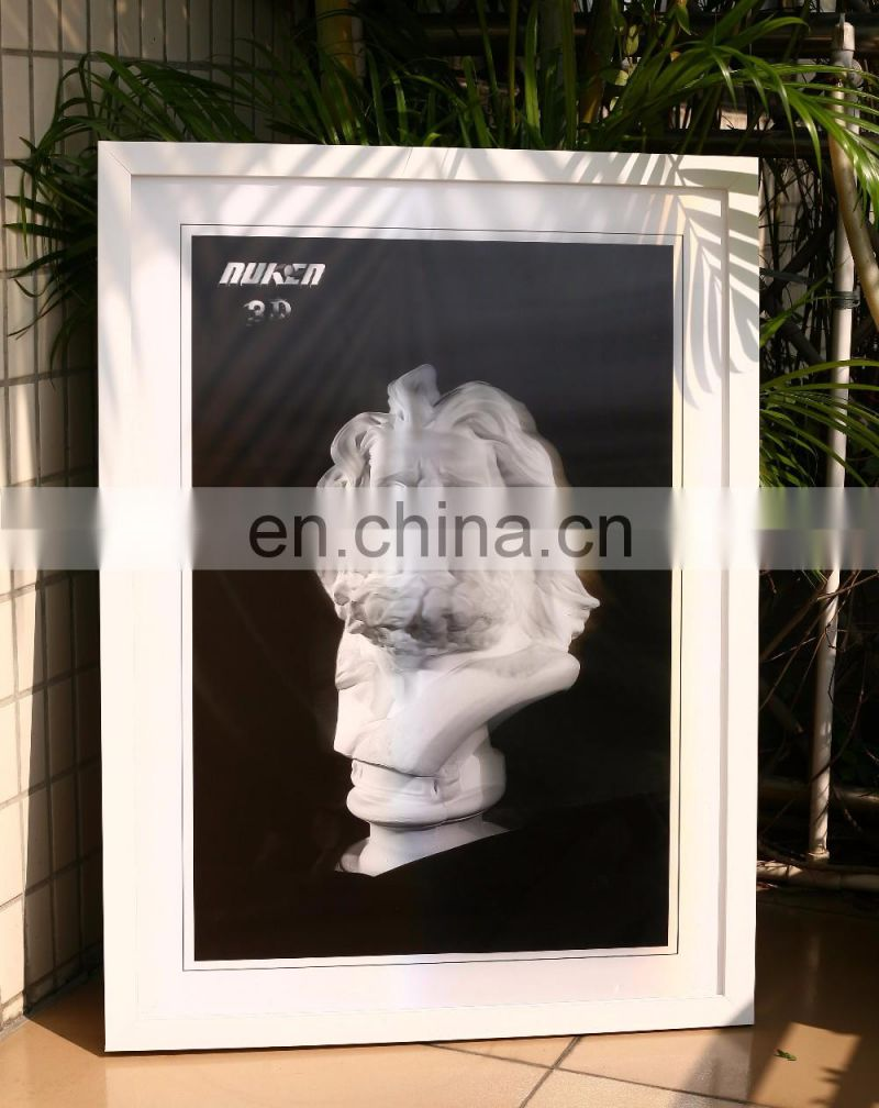high quality laser processed 3D lenticular picture with light box
