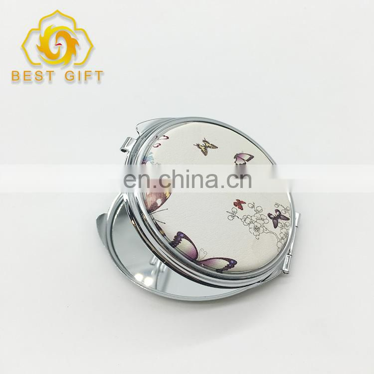 Dongguan Manufacturer Made Printing And Blank Metal Leather Mirror