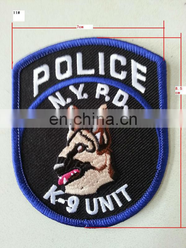 City Inspector Badge embroidery on felt or twil