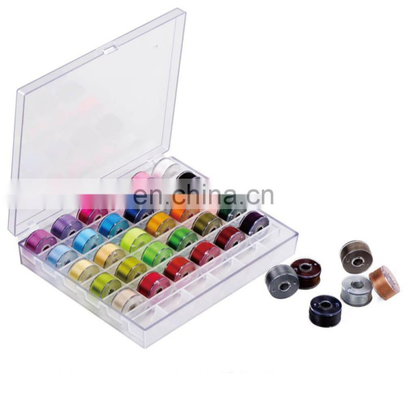 B0025 36 Pcs Bobbins and Sewing Threads with Case