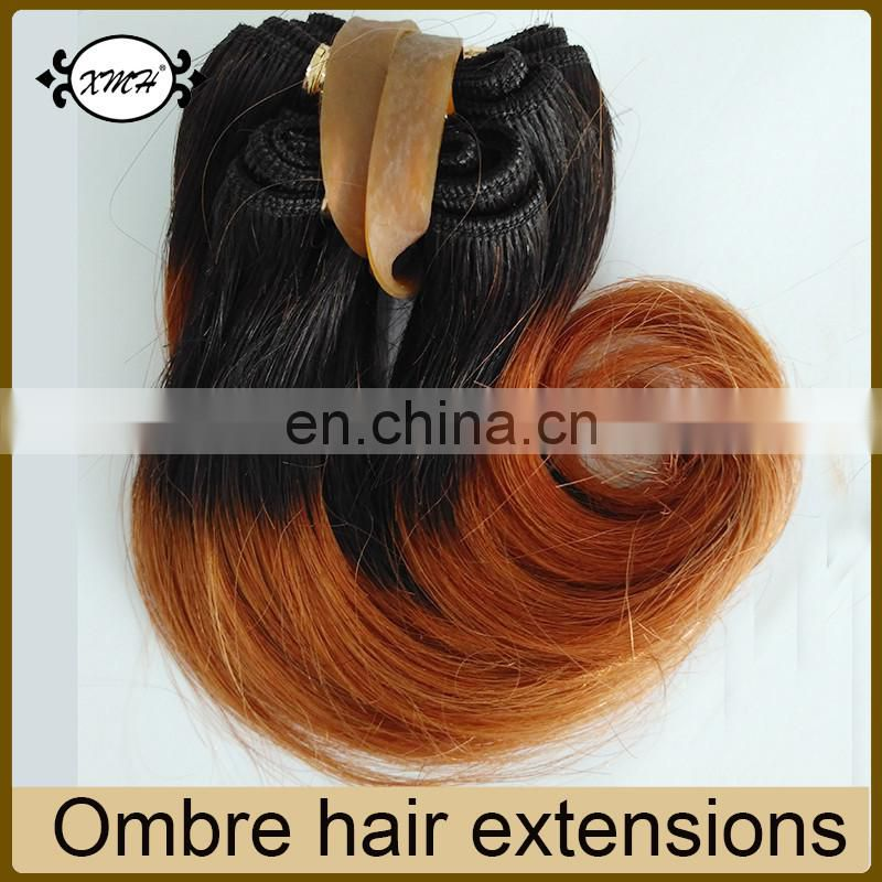 High quality 6inch Short Hair Weave 1b/Blue Ombre Hair