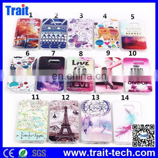 Made in China Factory Price TPU Soft Ultrathin Back Cover Case for Samsung G9250 Galaxy S6 Edge