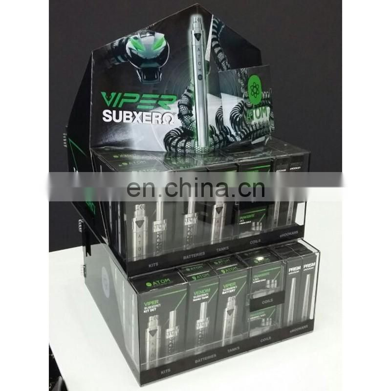 retail store used acrylic cigarette display case