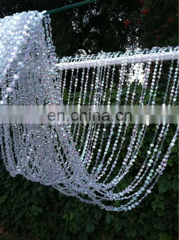 3.6 meters length Iridescent Crystal Beaded Curtain for Wedding backdrop