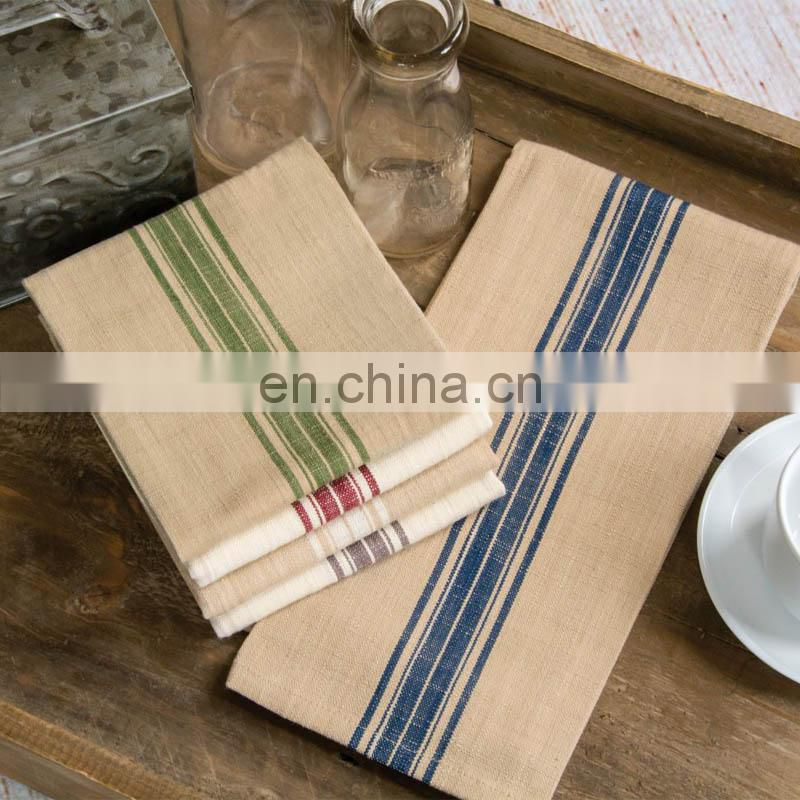 striped cotton linen yarn dyed kitchen tea towel