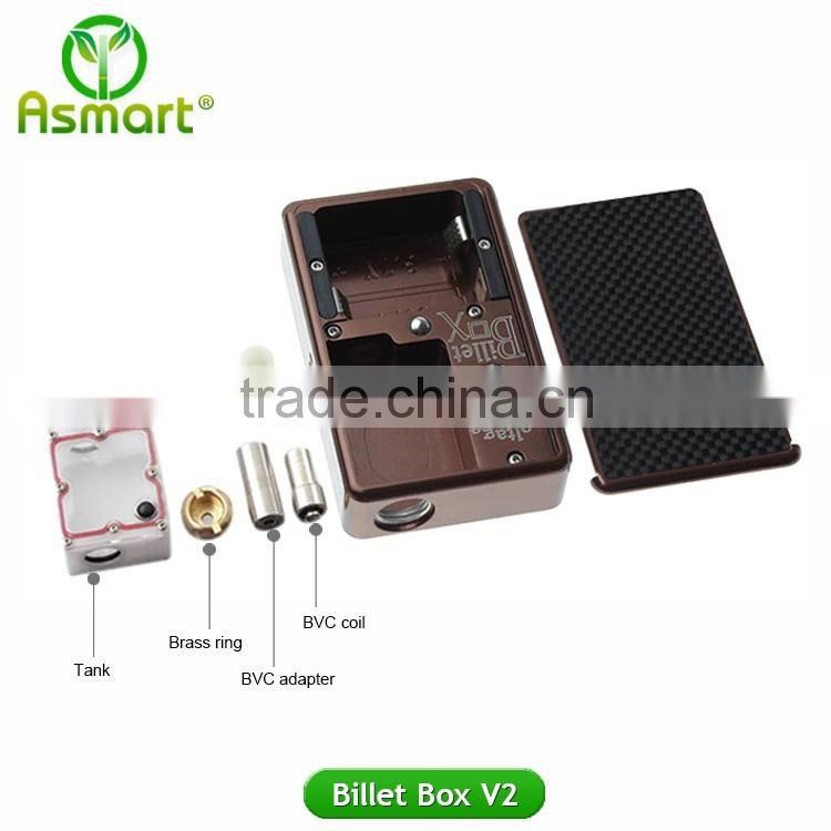 china manufacturer E cigarette mod 30W billet box v2 vape