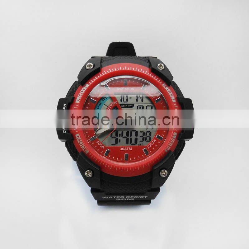 New brands quartz analog dual time watches mens dual time zone watch