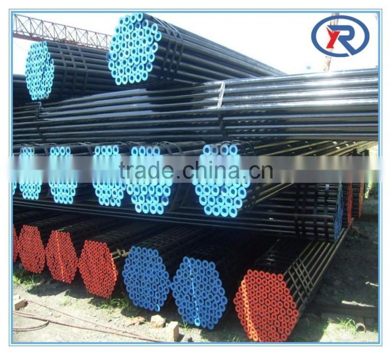 china supplier seamless carbon steel pipe/black seamless steel pipes for gas and oil transportation