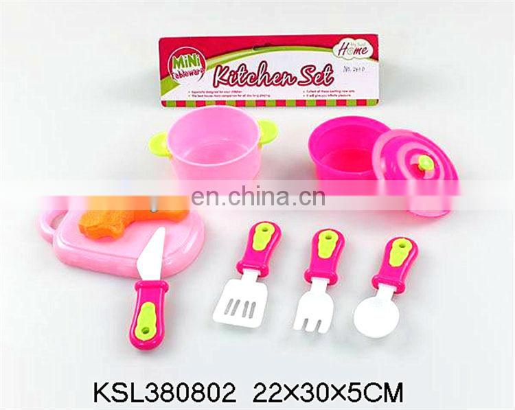 Popular plastic toys kids cooking play set toys