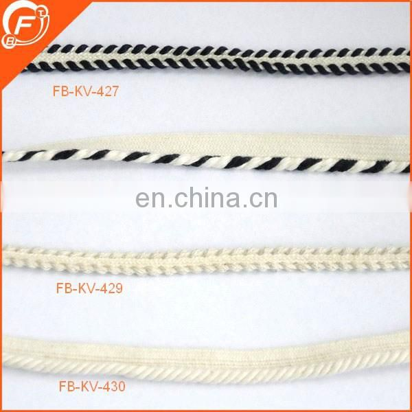 2017 hot fashion fantastic white color weave fashion braid for clothes dress