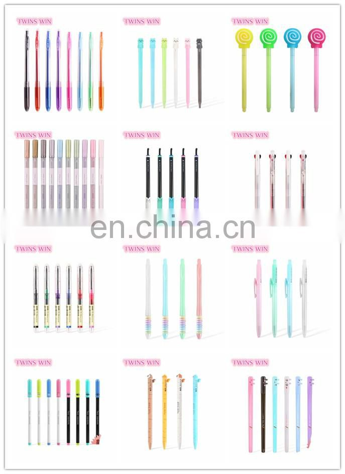 2018 New Arrival Hot Selling cute korean products stationery online shopping cartoon ink gel pen with good quality