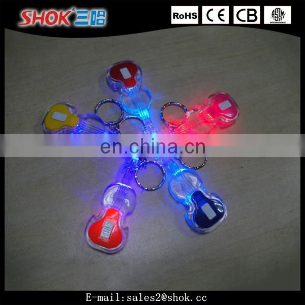 Best selling item souvenir led flashlights guitar keychain for kids