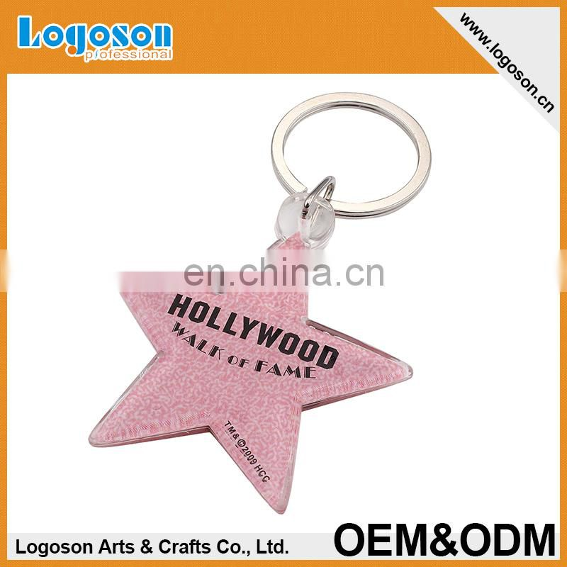 2016 Hot Selling Metal Star Shaped Keychain