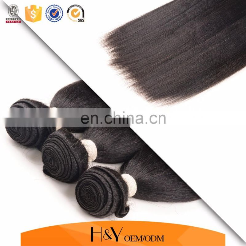 100% human hair weft kinky straight yaki unprocessed hair extension can be dyed and bleached