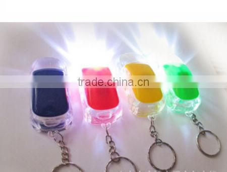 Flashing Plastic LED car keychain for kids