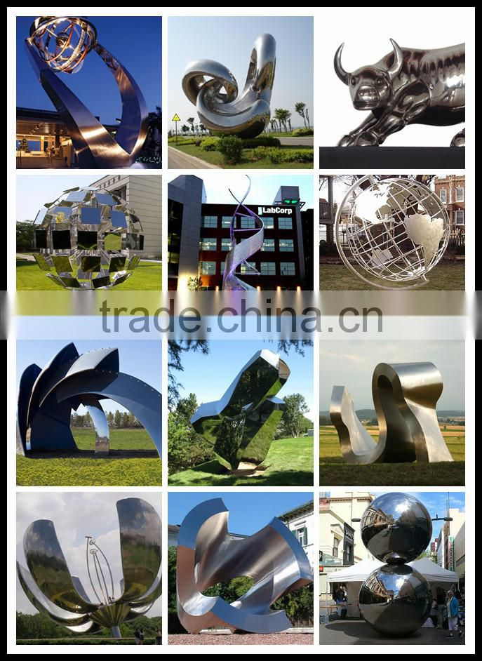 outdoor decoration mirror polished stainless steel sculpture NTS-590X