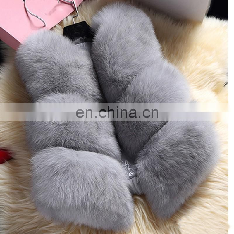 Classical pattern bread clothes real fox fur gilet lady fur waistcoat