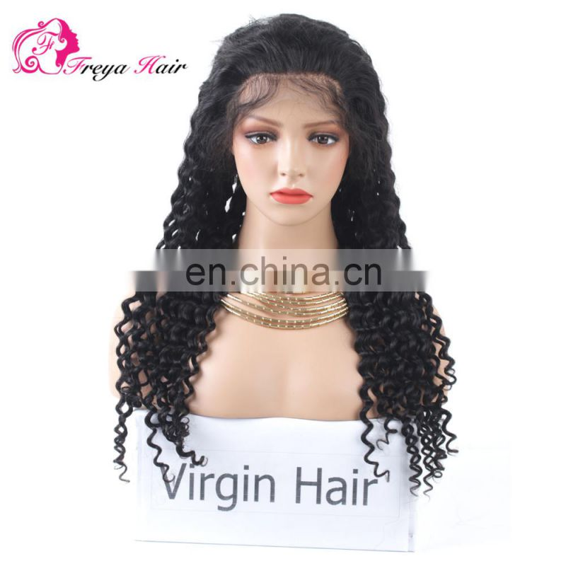 Hot Selling Factory Price Undetectable Natural Hairline deep wave hair wig