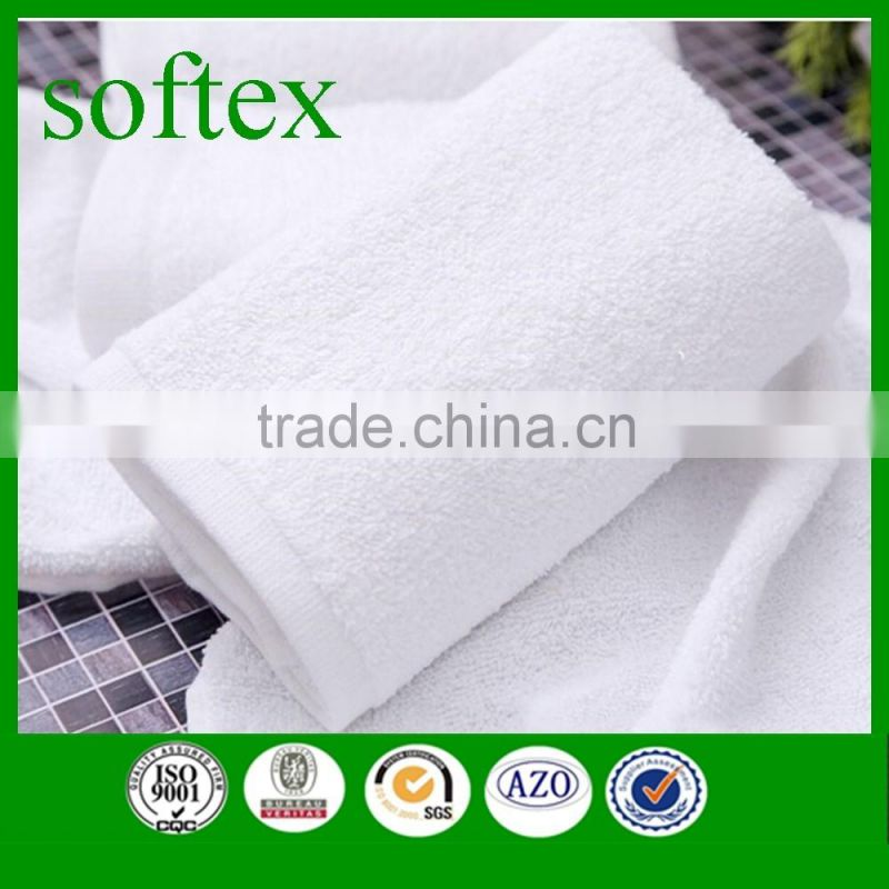 100% cotton plain weave white gym towel wholesale