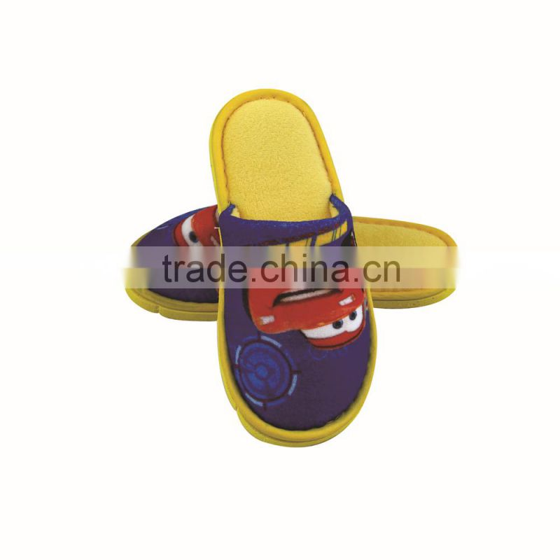Disposable Hotel Kids Animals Pictures Closed Toe Slippers with EVA Sole