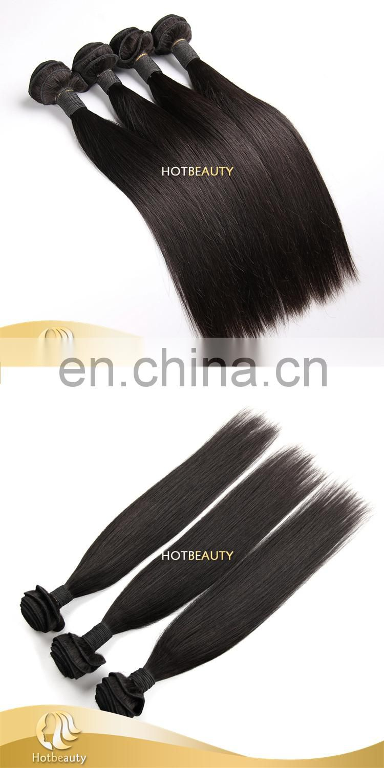 Ladies love very silky 6A human virgin Hair Straight Brazilian Hairs