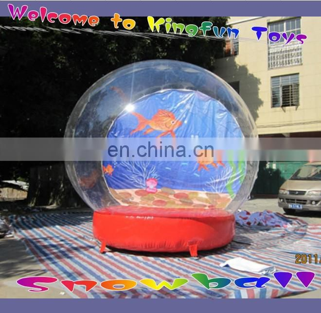 4m Dia Christmas theme Inflatable Snow balloon,inflatable snowball