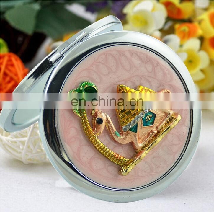 Wholesale OEM Luxury Round Pocket compact Mirror For Ladies And Girls