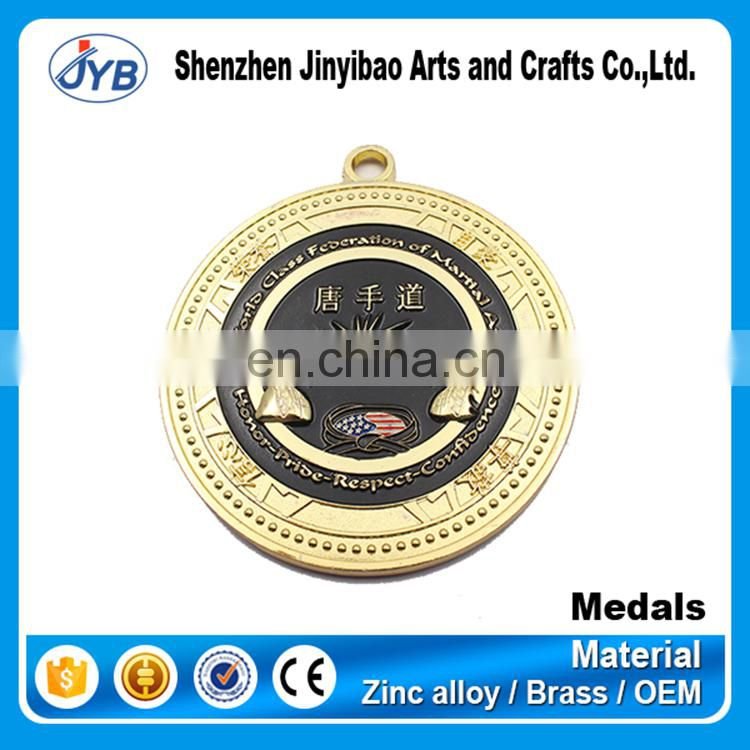 hottest selling custom wtf taekwondo medals for souvenir gifts