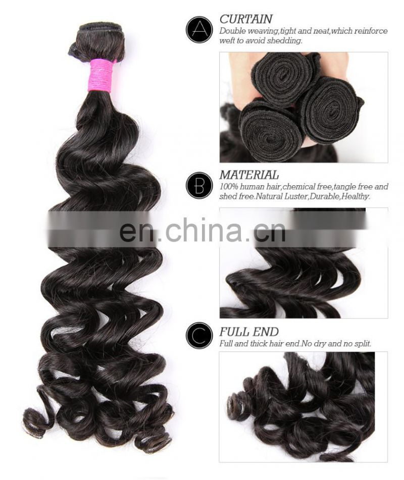 Wholesale Loose Wave Brazilian Hair Weave/Loose Wave Human Hair