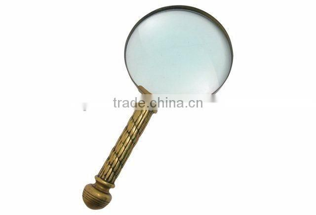 brass shiny polished mini magnifing glass