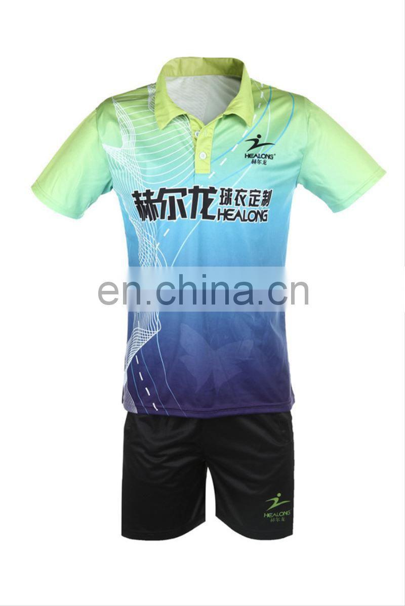 9f8c9c410 ... Healong Sport Thermal Transfer Sublimation Sublimation Badminton T-Shirt  Team ...