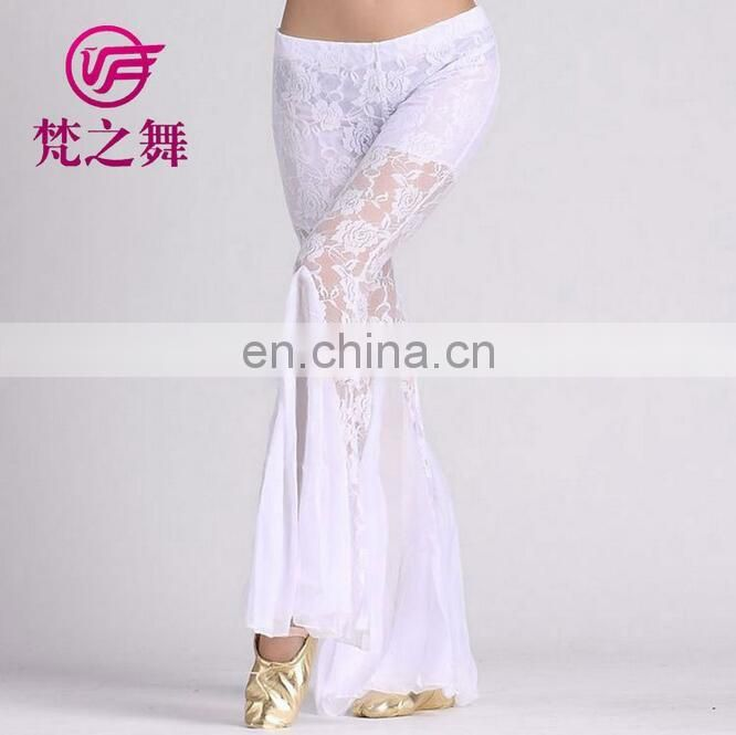 Egyptian professional belly dance lace pants for sale K-4004#